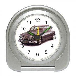 Jaguar MKII 1959-1969 Silver Compact Travel Alarm Clock 15725040