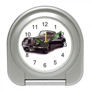 Jaguar XK1948-1954 Silver Compact Travel Alarm Clock 15725146