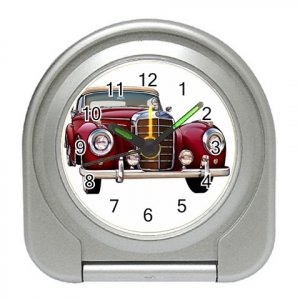 Mercedes Silver Compact Travel Alarm Clock 15725252