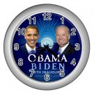 Obama Biden Presidential Inauguration Silver Wall Clock Home Decor Office Gift Time 17654794