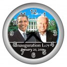 Inauguration Obama Biden Presidential Silver Wall Clock Home Decor Office Gift Time 17654816