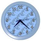 Blue ANCHORS Marine Design Wall Clock Home Decor Office Gift Time 21324063