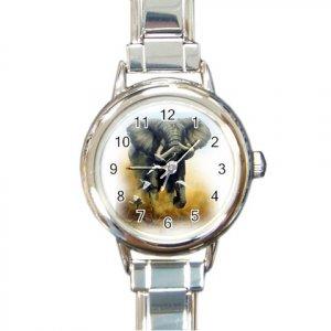 ELEPHANT Italian Charm Wrist Watch Round Jewelry 13389212