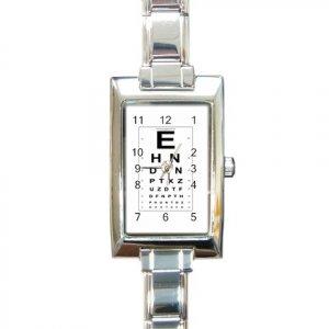 EYE CHART Italian Charm Wrist Watch Rectangular Jewelry 12628326