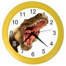 T-REX FACE DINOSAUR Print Wall Clock, Boys Room Home Decor, Office Gift Time 22107252