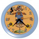 AUTUMN FALL SCARECROW  Wall Clock, Home Decor, Office Gift Time 22646498