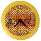 AUTUMN FALL PUMPKINS Wall Clock, Home Decor, Office Gift Time 22646500