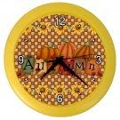 AUTUMN FALL PUMPKINS Wall Clock, Home Decor, Office Gift Time 22646500
