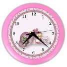 PINK TEA TIME Design Wall Clock, Home Decor, Office Gift Time 22646502