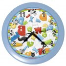 BLUE ALPHABET Kids Design Wall Clock, Home Decor, Office Gift Time 22646503