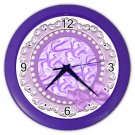PURPLE LACE Design Wall Clock, Home Decor, Office Gift Time 22646505