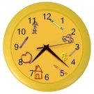 CRAYON DRAWING Kids Design Wall Clock, Kid's room, Home Decor, Office Gift Time 22646535
