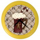 HOT COCOA  Holiday Design Wall Clock, Kitchen, Home Decor, Office Gift Time 22646536