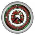 CHRISTMAS Wreath Holiday Design Wall Clock, Home Decor, Office Gift Time 22646585