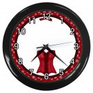 RED SEXY CORSET Design Wall Clock, Home Decor, Office Gift Time 22646548