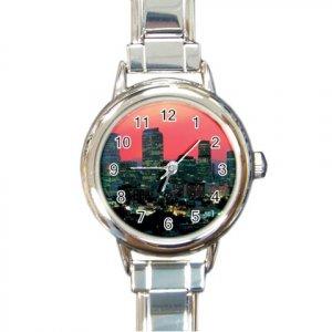 DENVER COLORADO SKYLINE Italian Charm Wrist Watch Round Womens Jewelry 14597651