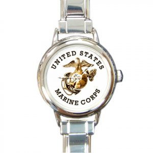 USMC MARINES MILITARY Watch Italian Charm Round Womens Jewelry 17393296