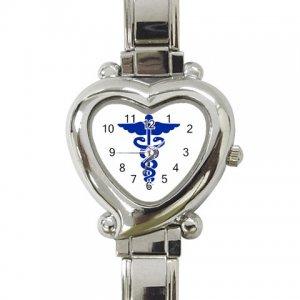 MEDICAL SYMBOL Womens Watch Italian Charm Heart Shape Jewelry 17392956