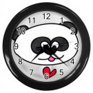 Cute PANDA Black Plastic Frame Wall Clock Home Decor Office Gift Time 26619143