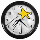 SHOOTING STAR Black Plastic Frame Wall Clock Home Decor Office Gift Time 26619175