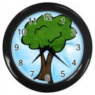 Colorful TREE Black Plastic Frame Wall Clock Home Decor Office Gift Time 26619187