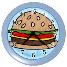 HAMBURGER Design Wall Clock Home Decor Office Gift Time 26618933