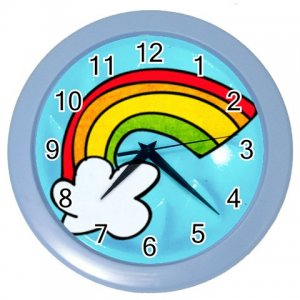 COLORFUL RAINBOW Design Wall Clock Home Decor Office Gift Time 26619159