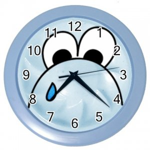 Funny SAD FACE Design Wall Clock Home Decor Office Gift Time 26619166