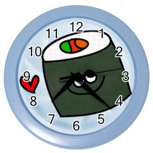 FUNNY SUSHI Design Wall Clock Home Decor Office Gift Time 26619186