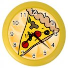 PIZZA Print Wall Clock, Home Decor Gift Time 26619156