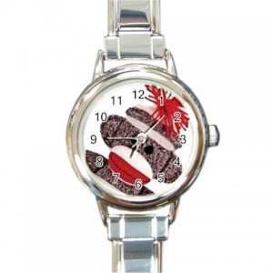 SOCK MONKEY Watch Italian Charm Round Womens Jewelry 25916318