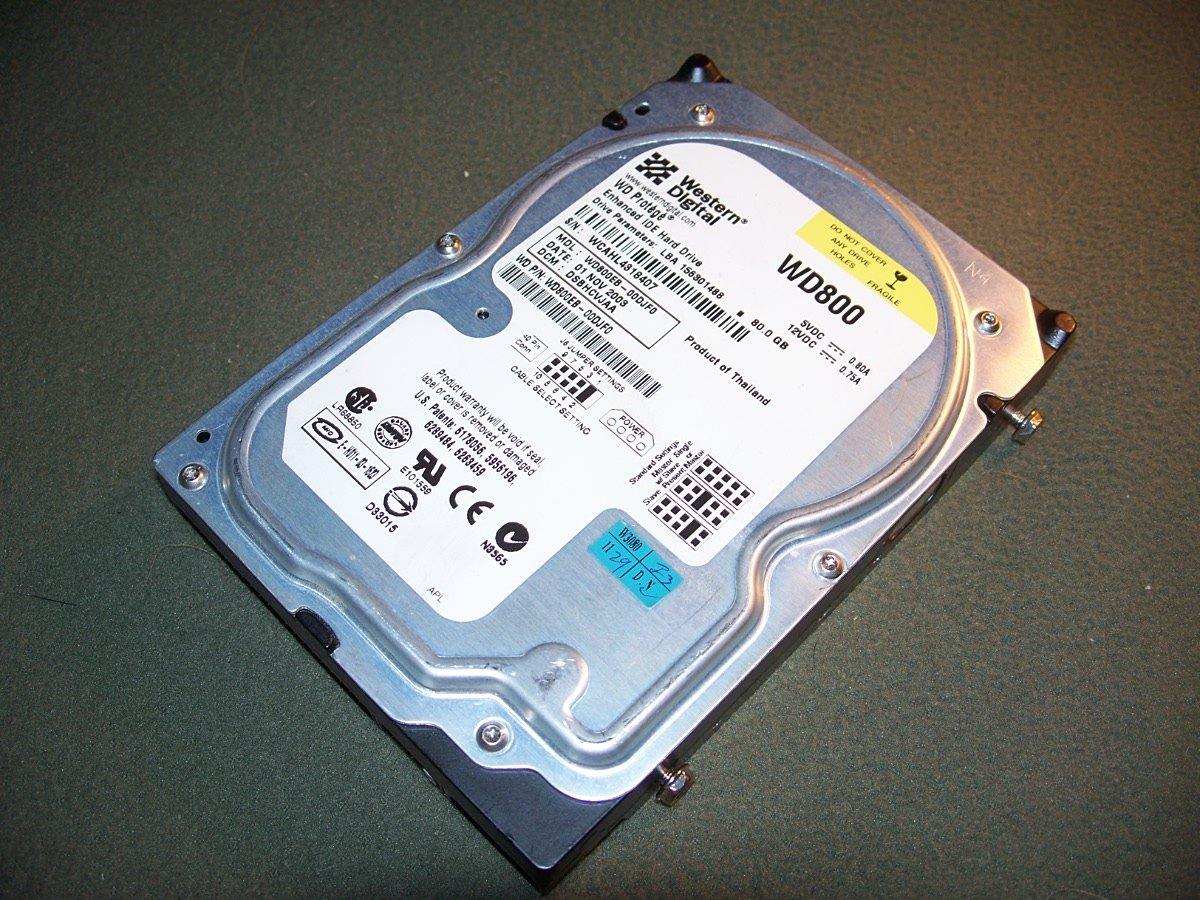 Western Digital Protege 80GB 5400RPM EIDE ATA-100 2MB Cache Hard Drive WD800EB-00DJF0