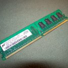 MICRON MT8HTF3264AY-40EB3 MEMORY MODULE STICK 256MB DDR2 PC2-3200 400MHZ