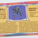 Skelton Warriors Grimskull file card