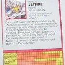 1995 Jetfire tech spec