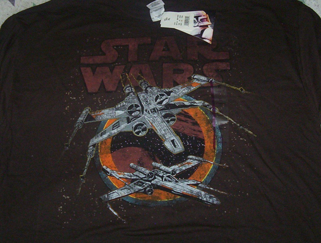 Adult size XL Star Wars X-wing fighter T-shirt