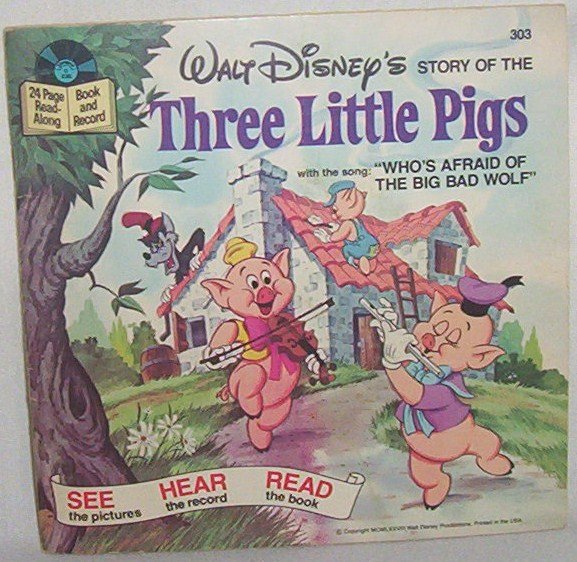 1978 Three Little Pigs book & record #303
