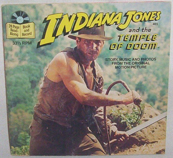1984 Indiana Jones and the Temple of Doom book & record #465