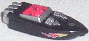 non-Micro Machine black speedboat by Hot Wheels