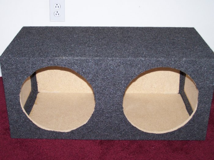 "Dual 12"" Sealed Gray Speaker Box"