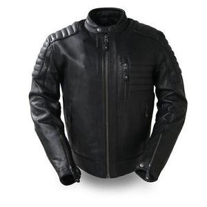 FMC �The Defender� Men's cafe style leather jacket FIM293CHRZ