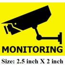 4 MONITORING stickers CCTV security video surveillance camera warning sign theft & intrusion.