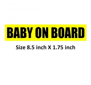 BABY ON BOARD bumper sticker sign to stop tailgating