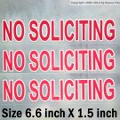 3 static indoor face cling on glass NO SOLICITING sign sticker to keep solicitors away