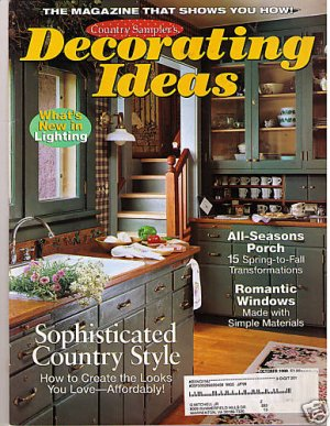 country sampler 39 s decorating ideas october 98 magazine