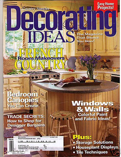 country sampler 39 s decorating ideas feb 2000 magazine