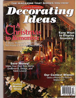 Country Sampler 39 S Decorating Ideas Christmas Dec 1998