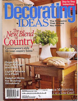 country sampler 39 s decorating ideas oct 2000 magazine