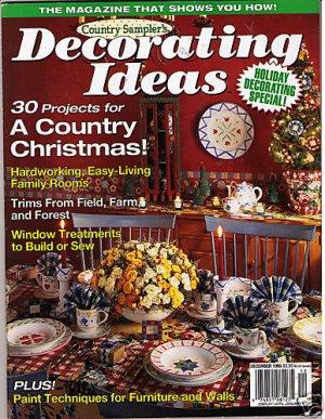 country sampler 39 s decorating ideas christmas dec 1995