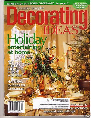 country sampler 39 s decorating ideas magazine dec 2002